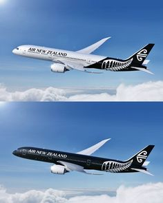 Love these Air New Zealand aircrafts Boeing 787 Dreamliner, Boeing 777, Private Plane, Private Jet, Australian Airlines, Airline Logo, Best Airlines, Air New Zealand, Commercial Aircraft