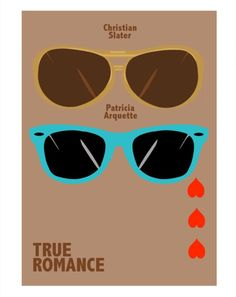 True Romance (1993) ~ Minimal Movie Poster by David Peacock