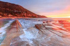 Incredible places to go around australia! Incredible places to go around australia! Western Australia, Australia Travel, Best Tourist Destinations, Time Lapse Photography, Wanderlust, Sunset Landscape, Destination Voyage, Rock Pools, What The World