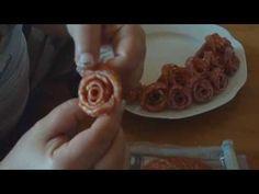 Výroba salámových růží - Majka Coufalová - YouTube