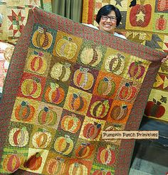 Pumpkins Pumpkins Rag Quilt - pumpkin patch primitives