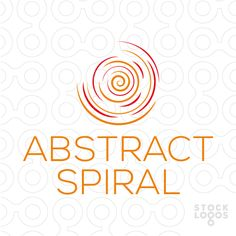 Logo mark shows an abstract spiral. Logo for art studio, creative services, dance studio, digital media, entertainment.   Possible uses: event planner, holistic healing, home & interior decor, spa, online multimedia, personal growth, photography, rehab center, social media, surfing shop, therapist, web developer, wellness center, yoga.