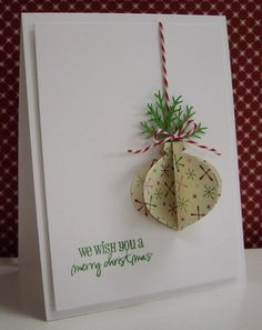 Stamping with Loll:  3-D Christmas Bauble - punches (Dec. 2012)