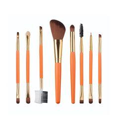 2017 NEW8PCS/SET Foundation Blush Cosmetic Concealer Brush Set Wood Beauty Tools Handle Make Up New