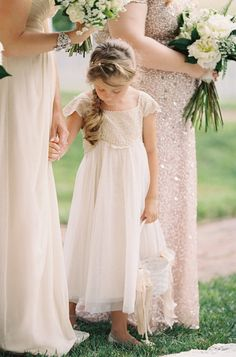 Adorable flower girl style: http://www.stylemepretty.com/2015/09/16/romantic-outdoor-wedding-in-maryland/   Photography: Michael and Carina - http://michaelandcarinaphotography.com/