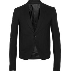 Brushed Cotton-Twill Blazer - Rick Owens