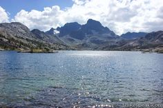 Garnet Lake: trail description, photos, GPS map and hike directions on John Muir Trail to Garnet Lake from Agnew Meadows near Mammoth Lakes, CA