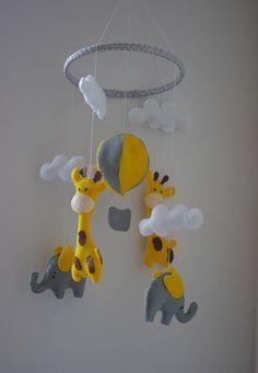 Baby mobile elephant giraffe Baby mobile hanging Nursery decor