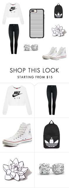 """Untitled #48"" by izzysports ❤ liked on Polyvore featuring NIKE, Converse, Topshop, PINTRILL and Casetify"
