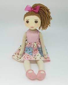 Doll Patterns, Sewing Patterns, Sewing Dolls, Cute Birds, Cute Dolls, Doll Face, Sewing Techniques, Sewing Hacks, Baby Dolls