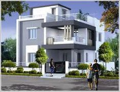 trendy exterior home styles railings 3 Storey House Design, House Roof Design, Duplex House Design, Duplex House Plans, Modern House Design, Independent House, Style At Home, Bungalow Haus Design, House Design Pictures