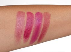 Too Faced La Creme Spring 2013 Bumbleberry, Loganberry, So Berry Sexy and Teddy Berry Swatches