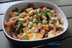 Carole's Chatter: Winter salad Hard Boiled, Boiled Eggs, Winter Salad, Fish Sauce, Smoked Salmon, Breakfast Time, Potato Salad, Fries, Bacon
