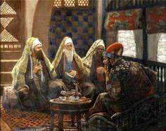 Artist:  Unknown  The Wise Men visit Herod.