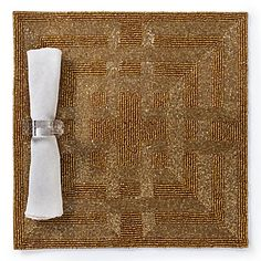 Greek Key Placemat in Gold