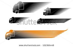 Speed. Symbolic image of a truck, in rapid motion. by Liashenko Iryna, via Shutterstock