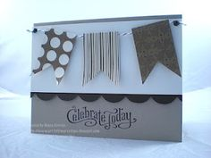 Stampin Up card w banners, C by Debra Currier @ ArtFelt Impressions