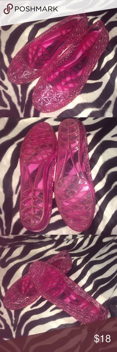 Pink jellies Super cute pink jelly shoes Shoes