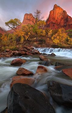 The Temple - Court of the Patriarchs, Zion National Park