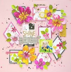 Give your floral designs amazing depth and a realistic appearance with the Floral Art Clear Photopolymer Stamps by Altenew. Scrapbook Sketches, Scrapbooking Layouts, Scrapbook Cards, Altenew, Penny Black, Fake Flowers, Flower Pictures, Smash Book, Beautiful Day
