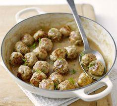 Crock-pot Swedish Meatballs.  Unbelievable!  I add 2 stalks chopped celery, mushrooms, celery salt, nutmeg, allspice & paprika too.