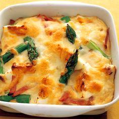 レタスクラブの簡単料理レシピ にんにくがかくし味のヘルシーホワイトソース「豆腐ソースグラタン」のレシピです。