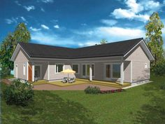 ST150 » TeslaHouses. This is a 150 sqm house with a wide kitchen area and a huge living room for leisure time and relaxing, this project has two, almost separated wings for 3 bedrooms, so if someone will have snoring problems  - that can be sorted out as well.