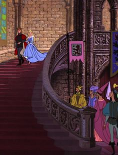 """Sleeping Beauty"" - Princess Aurora and Prince Phillip arrive. Walt Disney, Disney Couples, Disney Magic, Disney Art, Sleeping Beauty Maleficent, Disney Sleeping Beauty, Disney Dream, Cute Disney, Disney And Dreamworks"