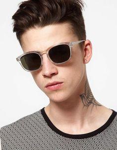 5d8d821d35d Cheap Monday Pschometry Wayfarer Sunglasses in Transparent for Men (clear)  - Lyst Wayfarer Sunglasses