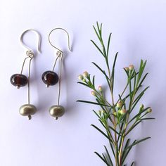 Recycled glass earrings - made from a beer bottle