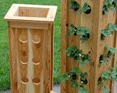 Items similar to Planter - Patio Tower Planter for Strawberries, Herbs or Ornamental Plants on Etsy