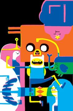 Popular TV-show Adventure Time has recently gotten a comic series, the first issue, a few weeks ago, has completely sold out and had fantastic covers. #5, out in June, also has a fantastic cover by Eleanor Davis. It's fantastic to see this weird cartoon being loved and getting the creative juices flowing of all kinds of artists.