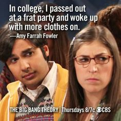 big bang theory, oh Amy Farrah Fowler. Tv Quotes, Movie Quotes, Humor Quotes, Song Quotes, Big Bang Theory Quotes, Amy Farrah Fowler, Frat Parties, How I Met Your Mother, Best Shows Ever