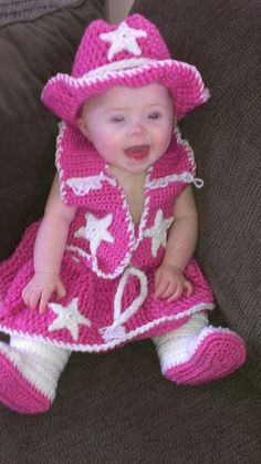 Crochet Cowgirl Outfit by PiddlePoeCreations on Etsy