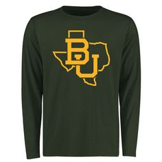Baylor Bears Tradition State Long Sleeve Crew Neck T-Shirt - Green