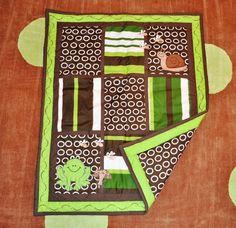 10pc Frog Nursery Crib Bedding Set Brown & Green - Pollywog Pond:Amazon:Baby