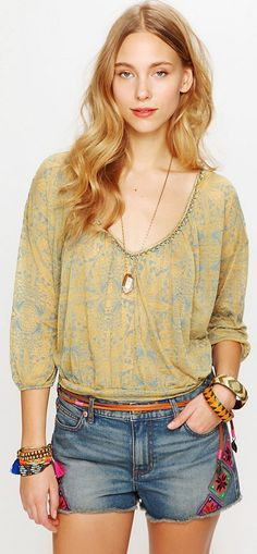 Moroccan Patched Cutoff Short from Free People