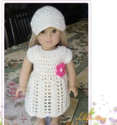Pattern crocheted doll clothes