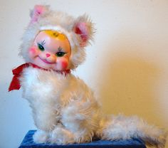 Hard to Find Rushton Vinyl Rubber Faced Cat Kitten | eBay