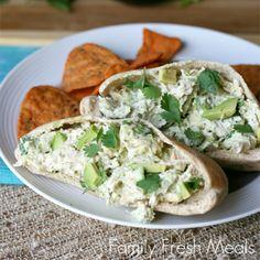 Tastes so good you won't believe it's healthy! Healthy Avocado Chicken Salad