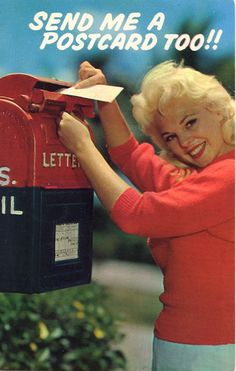 vintage american postcards 1950-1975
