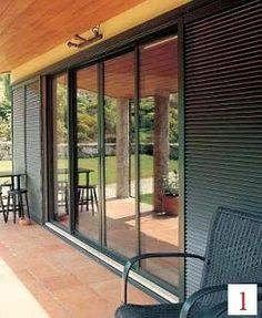 Mallorquinas PVC | Correderas y Abatibles Green Rooms, House Plans, Exterior Doors, House Exterior, House Design, New Homes, Outdoor Rooms, Tropical Architecture, Patio Interior