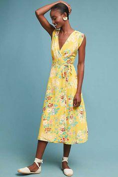 Slide View: 1: Lorie Silk Wrap Dress