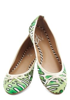 D.C. by Day Flat in Leaves. Usher in the cherry blossoms by flaunting these printed flats from DV8 by Dolce Vita! #green #modcloth