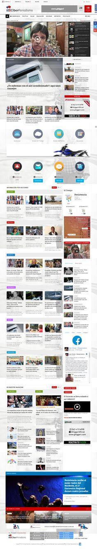 Sitio web desarrollado para el portal de noticias Ciberperiodismo.com.ar dirigido por el periodista José Viñuela de Resistencia, Chaco