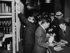 buying liquor at bloomingdale's hours after the end of prohibition was announced, 1933