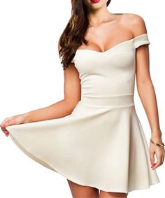 Voglee Sexy Lady's Classic Vintage 50s' 60s' Off Shoulder Skater Dress Party Clubwear (Medium, White) Voglee http://www.amazon.com/dp/B00KPA3Q74/ref=cm_sw_r_pi_dp_9oO4tb1Z8NX7A
