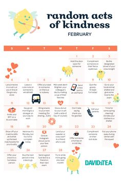 Want to brighten someone's day? Get some inspo from our random acts of kindness calendar!