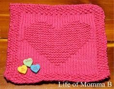 My Whole Heart Dishcloth - free pattern