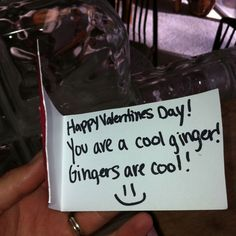 Valentines day card from a 6th grader!